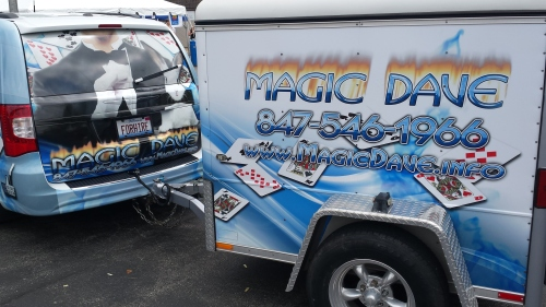 Magic Dave! Magic Dave asked me Saturday morning whom he should see about getting an extension cord to his performance location near his Magic Dave van. I didn't tell Magic Dave,