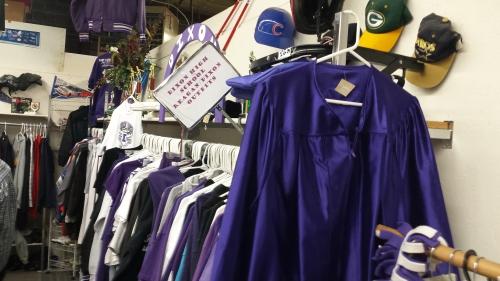 Dixon High graduation gown.