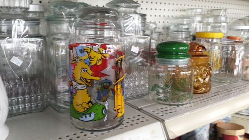 Muppets glassware.