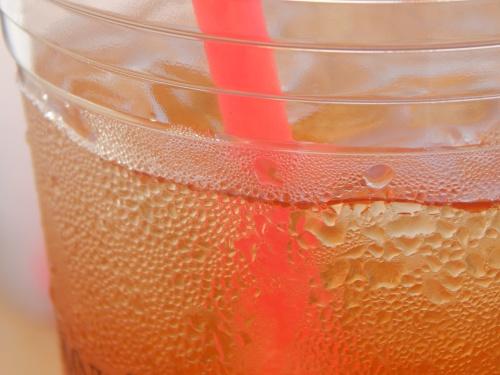 Iced tea up close.