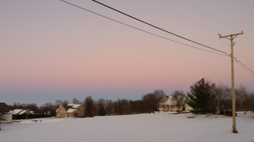 Eastern sky at sunset, 2 Jan. 2016