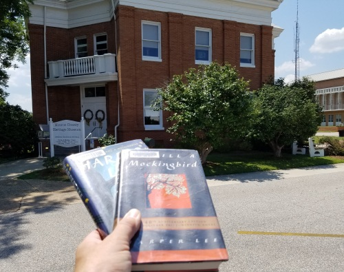 The Harper Lee books I borrowed from my hometown library are at Monroeville!