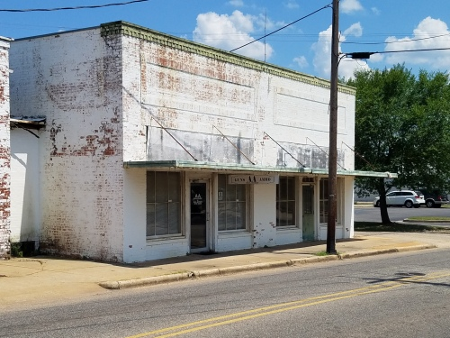 One of several run-down-looking buildings in downtown Monroeville, on east side of Mt. Pleasant Ave.
