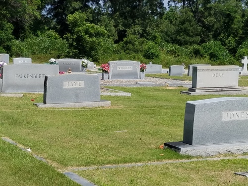 Also at cemetery, family names Deas and Tate, which were used as character names in To Kill a Mockingbird.