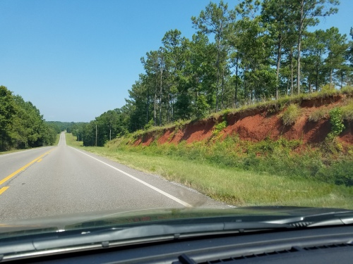 Along Alabama Route 21/47. Red dirt.