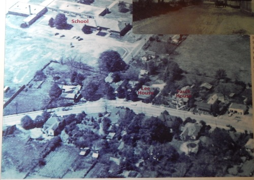 An image of South Alabama Avenue from the early 1950s, as displayed at Monroe County Heritage Museums. Right side of the photo is north.