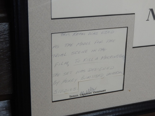 A note in Nelle Harper Lee's handwriting.