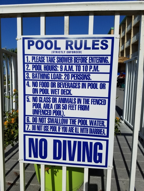 Please don't crap in the Hampton hotel's pool.