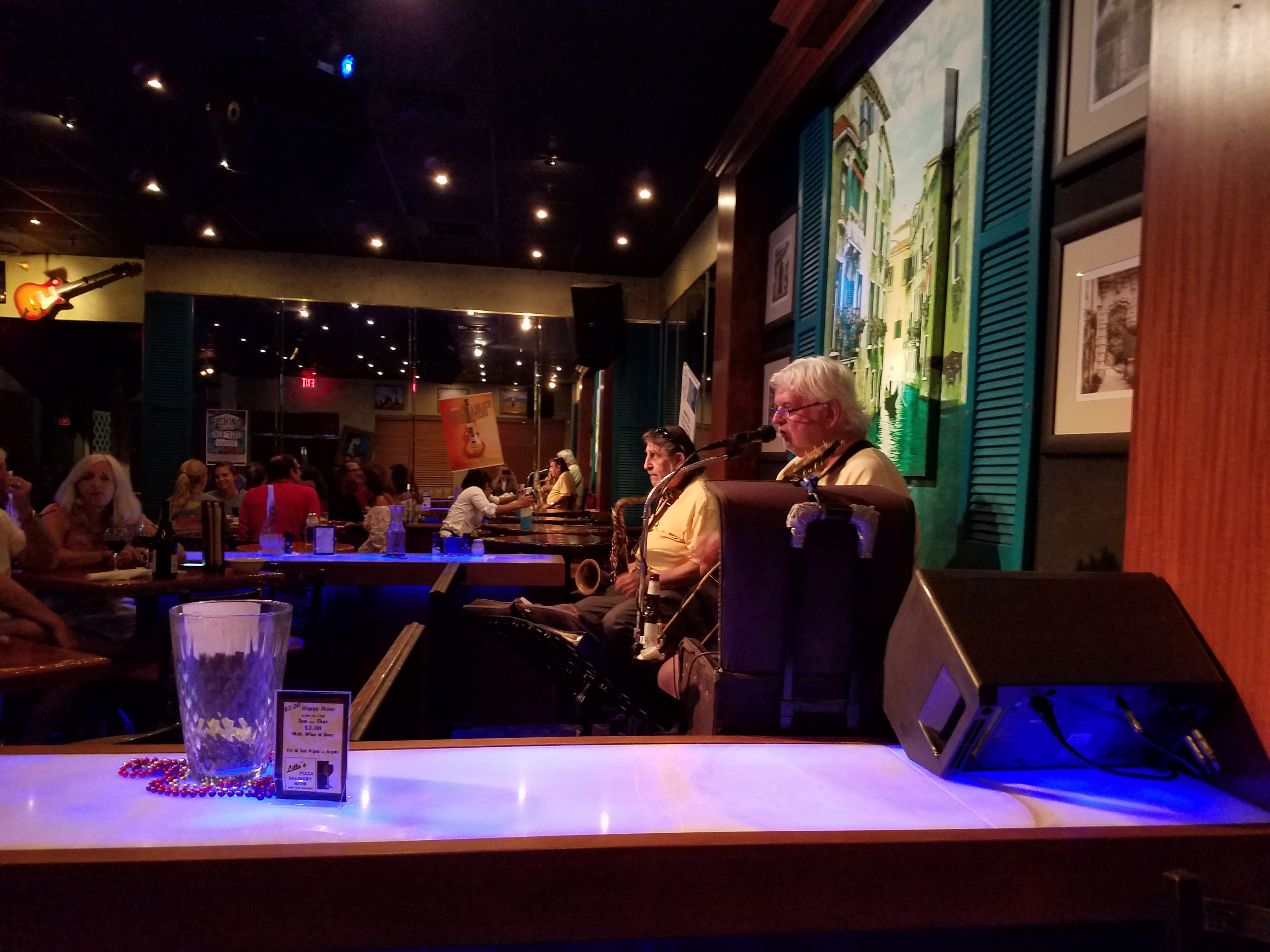 Two jazz musicians at Lillo's at Pensacola Beach.