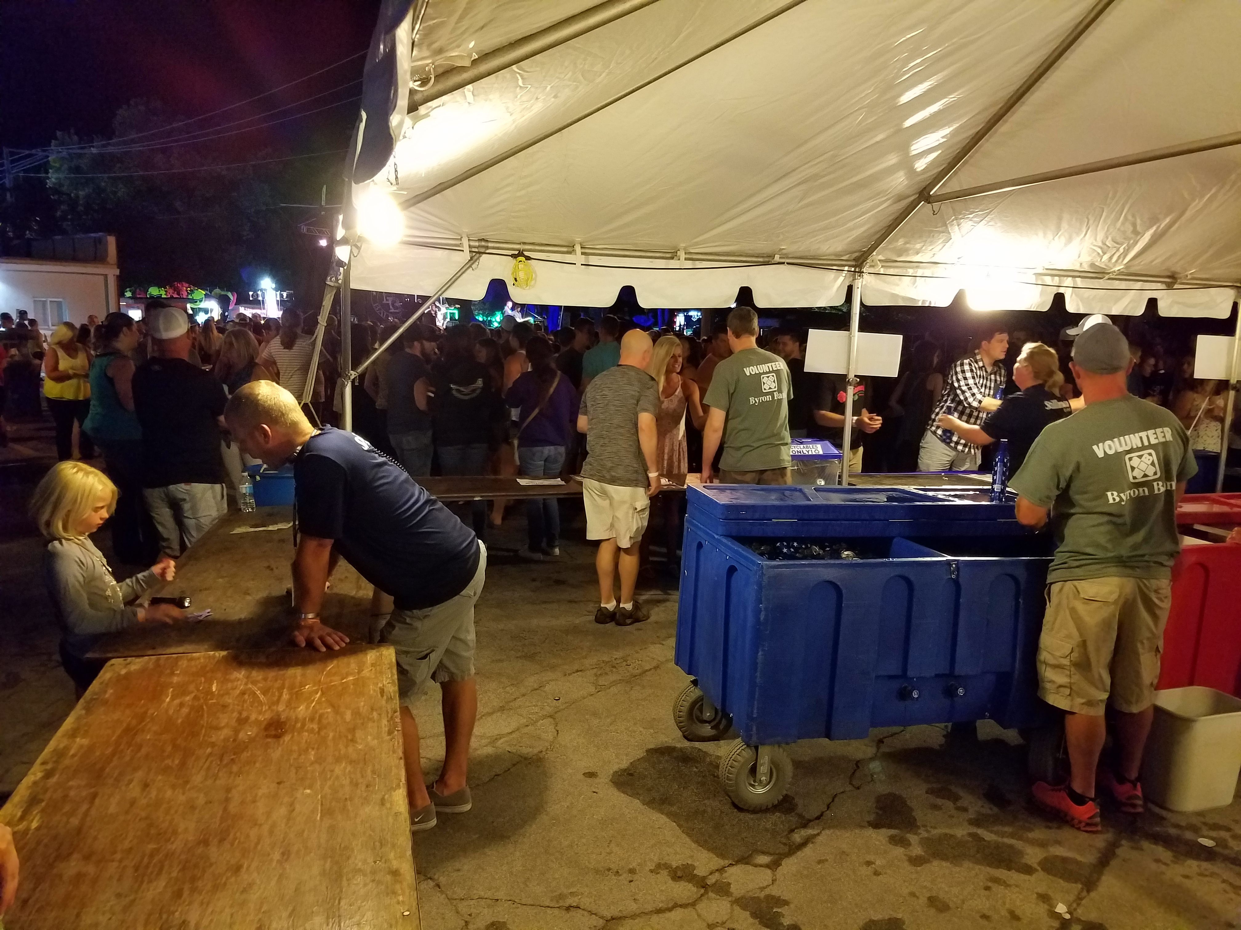 Chamber of Commerce beer tent.