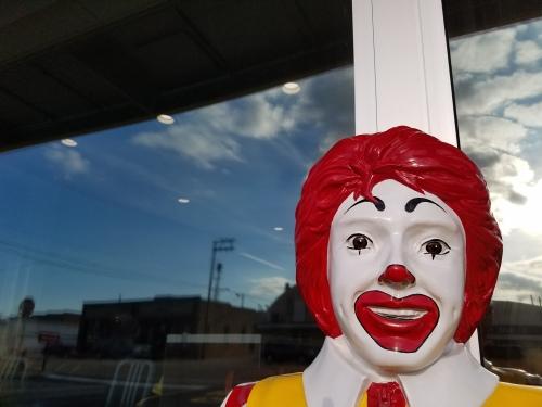 Ronald stares.