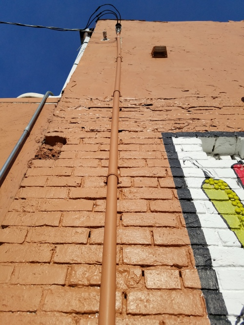 North part of west wall of building on Beaufort St., Normal, Ill. 14 Feb.